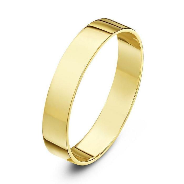18kt Yellow Gold Flat Wedding Ring