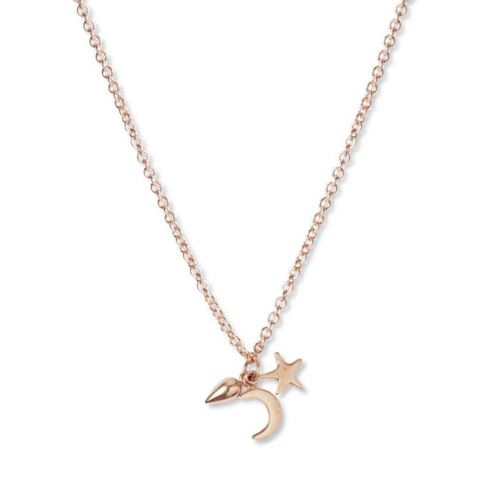 9kt Rose Gold Pendant Cluster Necklace