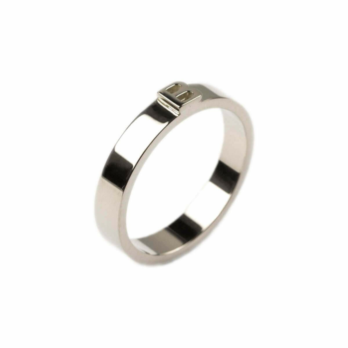 14kt White Gold Thin Character Ring