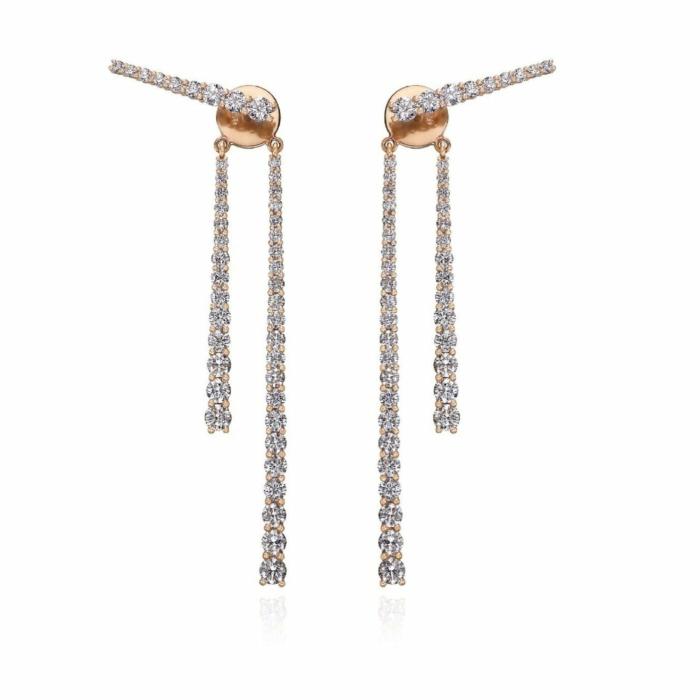 18kt Rose Gold Mode Earrings VII
