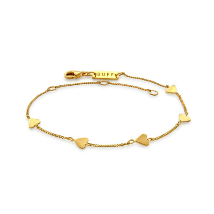 Yellow Gold Plated Five String Serenade Bracelet