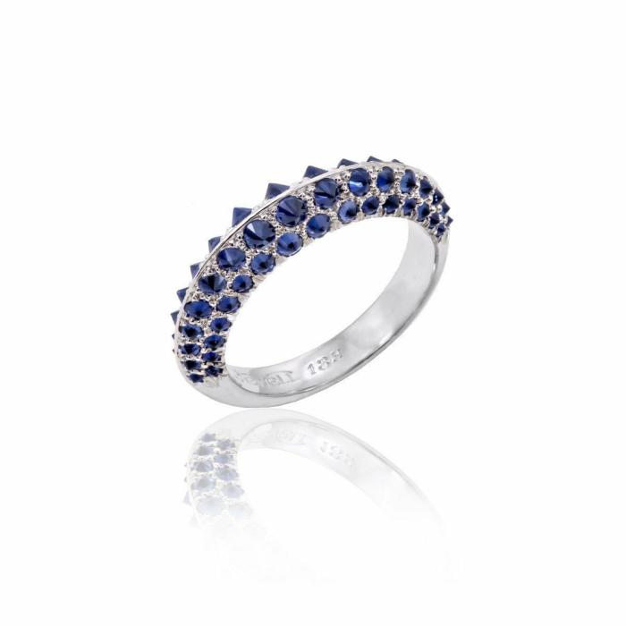 Arctic Blue Sapphire Ring