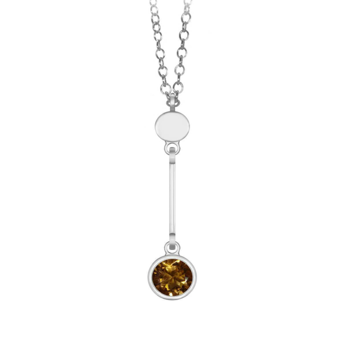 Sparkly Solo Necklace With Citrine