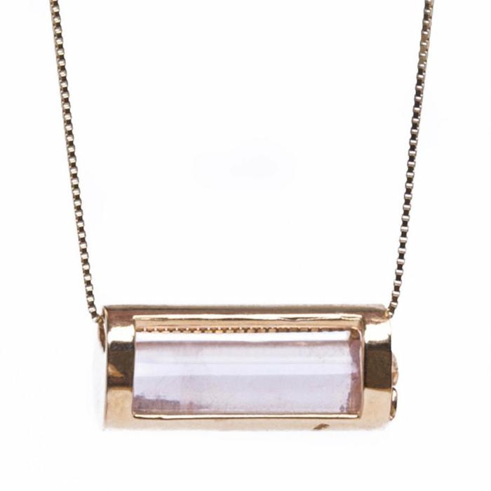 Signature Barrel Necklace In Rose Gold