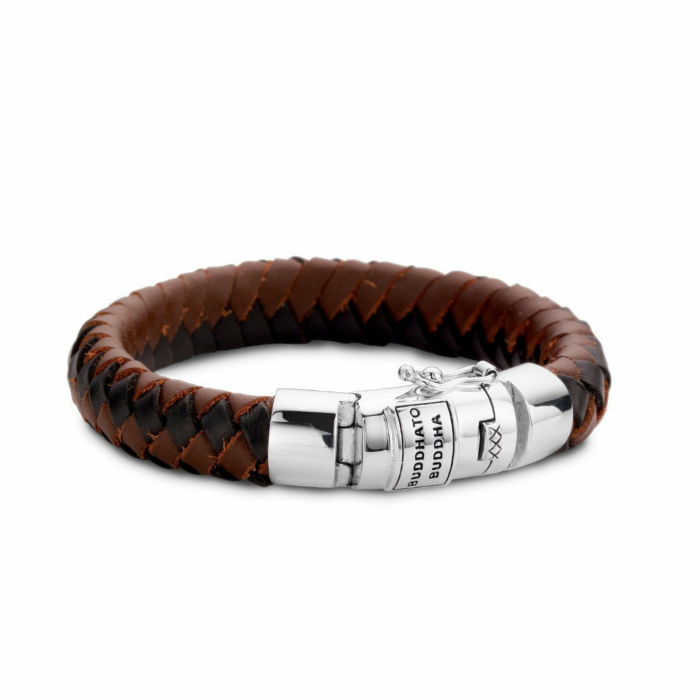 Ben Leather Bracelet Black & Brown by Buddha To Buddha