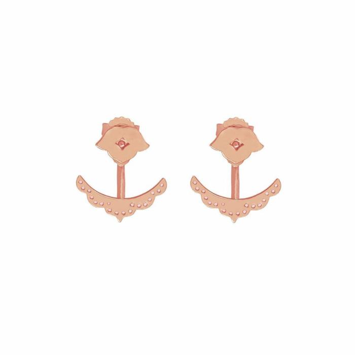 Rose Gold Beleza Cuff Earrings
