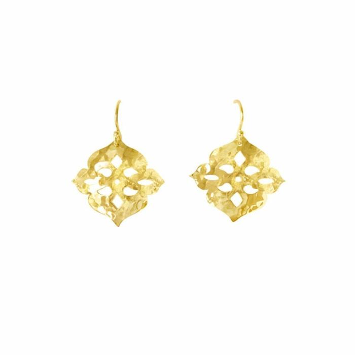 Gold Thai Princess Drop Earrings