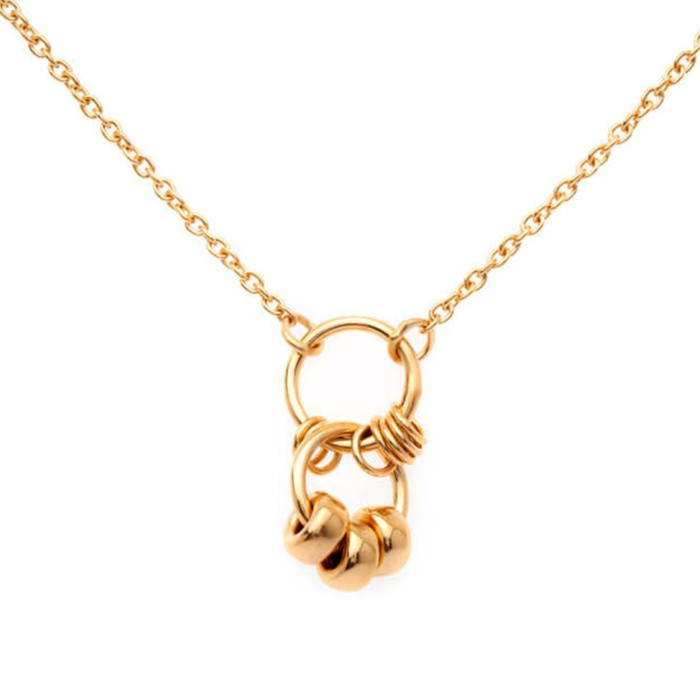 Yellow Gold Plated Petite Tied Together Necklace