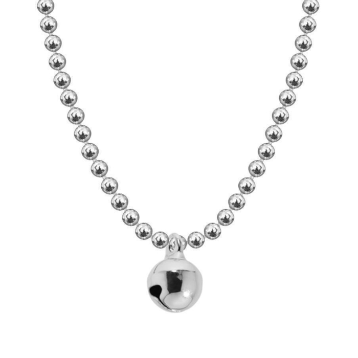 Allumette Bell Necklace - Silver