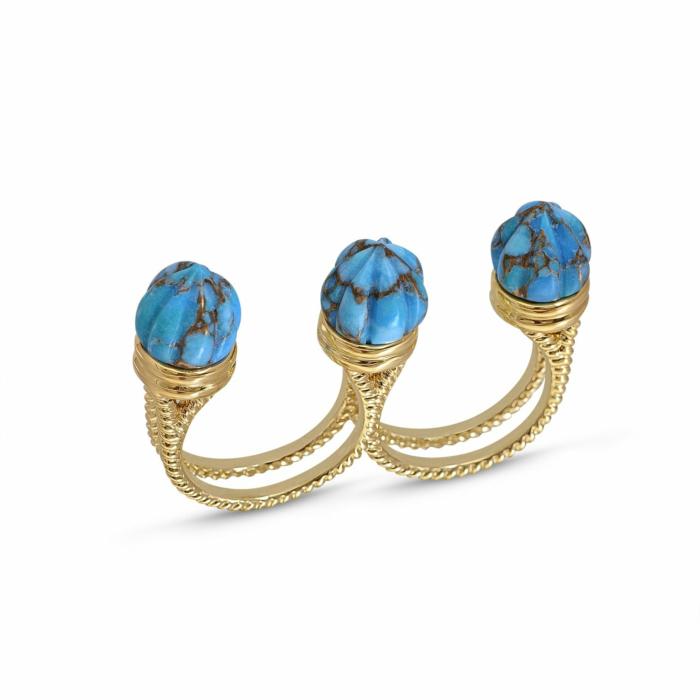 Sea Breeze Multi-Finger Turquoise Ring