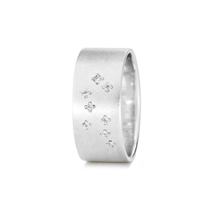Sterling Silver Gemini Zodiac Constellation Ring