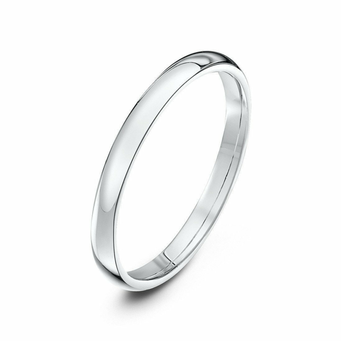 Platinum Court-Shape Wedding Ring