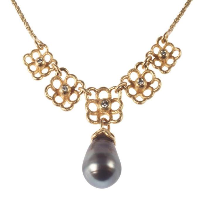 Gold & Pearl Tahiti-Dream Necklace | Goldspindel