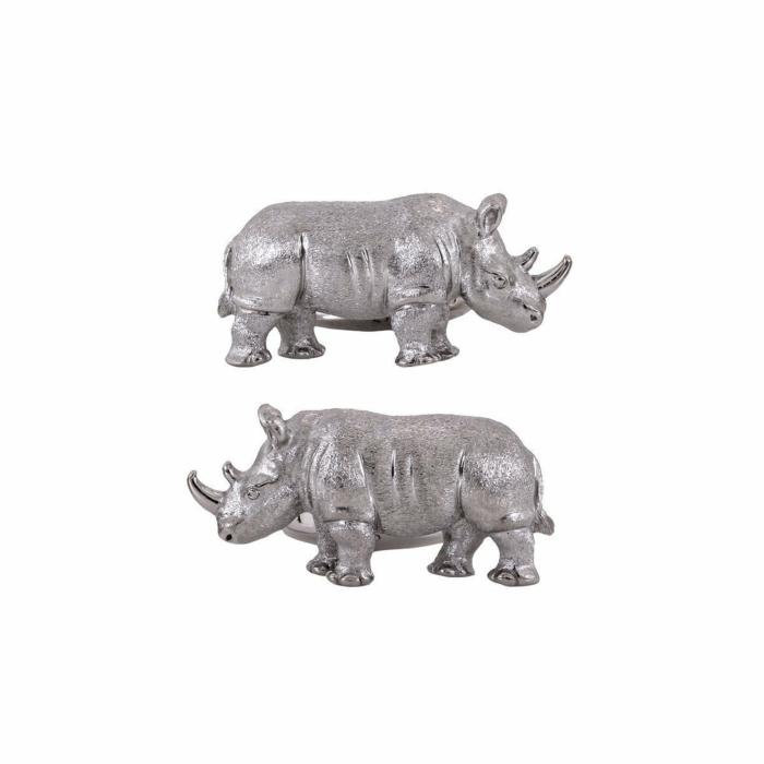 White Rhino Cuff Links