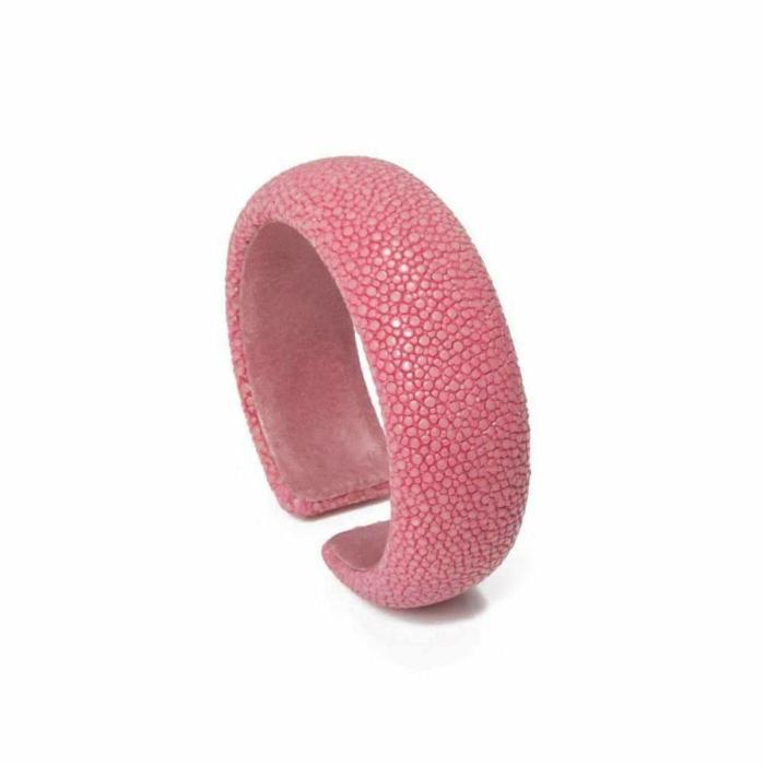 Samba Hot Pink Stingray Leather Bangle