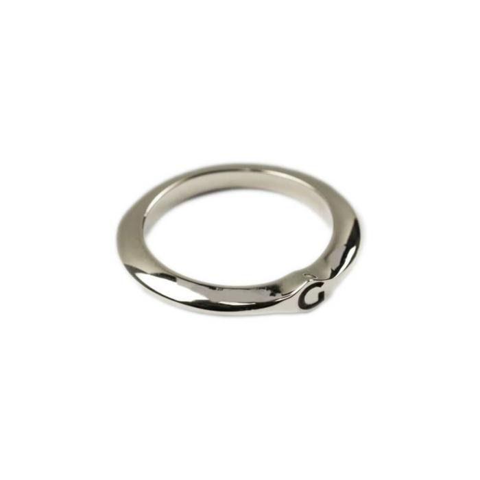 14kt White Gold Signet Ring C