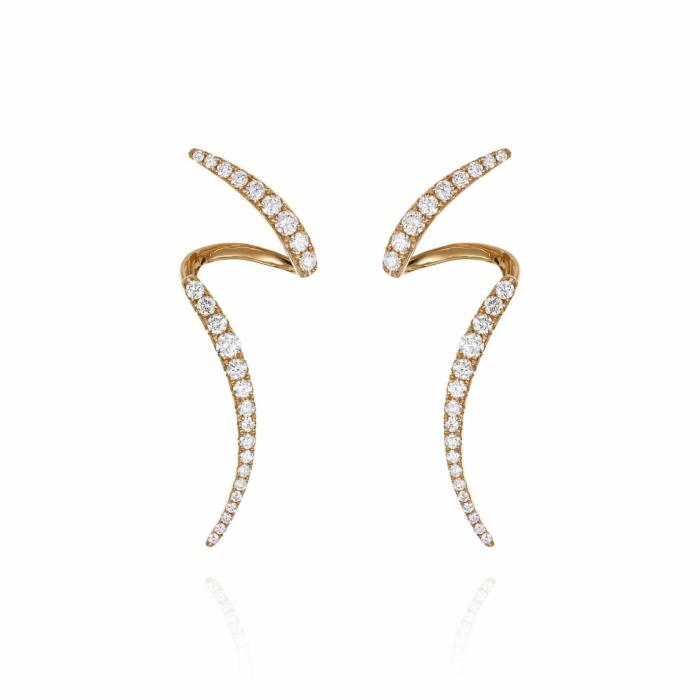 18kt Rose Gold Mode Earrings V
