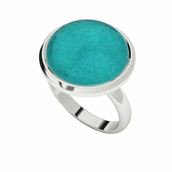 Amazonite Sterling Silver Cabochon Ring