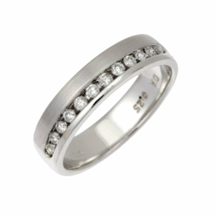18kt White Gold & Diamond 4mm Eternity Wedding Ring
