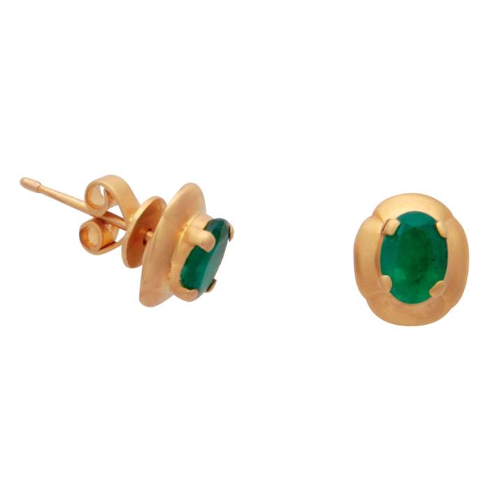 Classic Emerald Stud Earrings