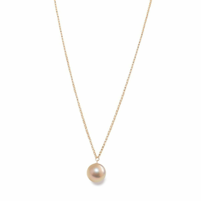 14kt Gold XXL Pink & Gold Pearl Pendant Necklace