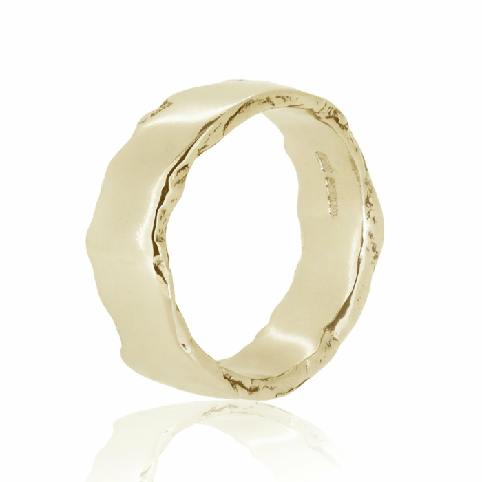 Wolf Yellow Gold Ring