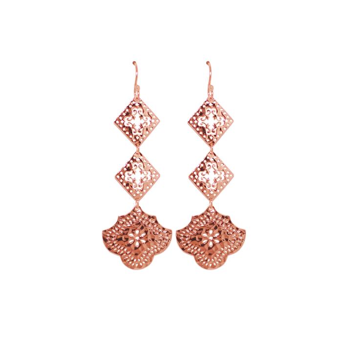 Rose Gold Goddess Hanging Earrings