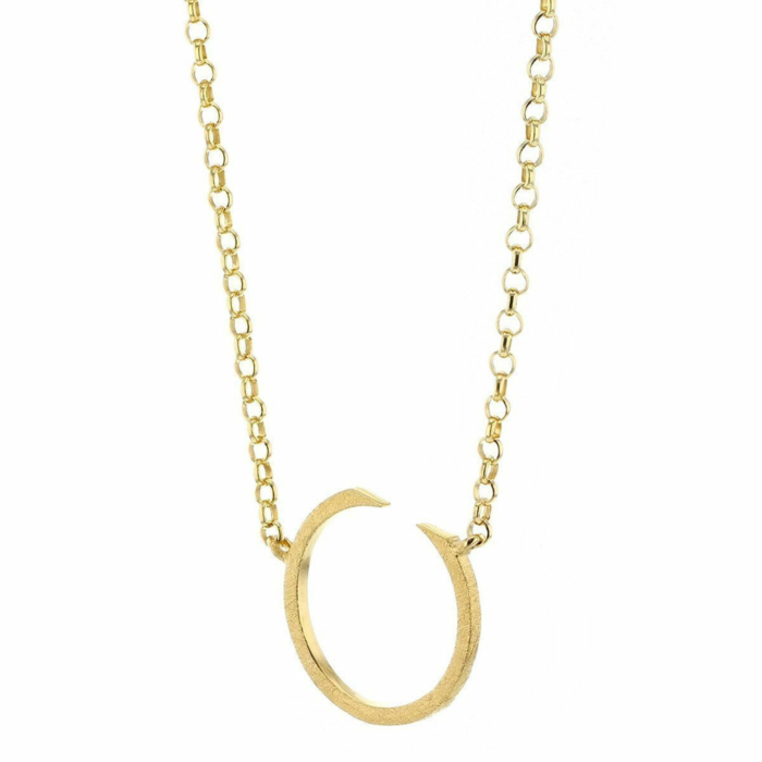 Circling Gold Plated Necklace Large
