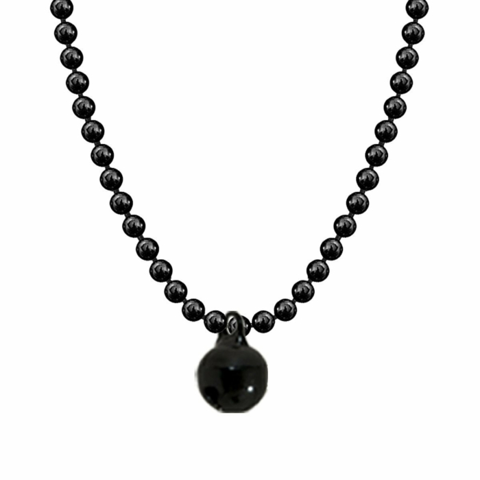 Allumette Bell Necklace - Black