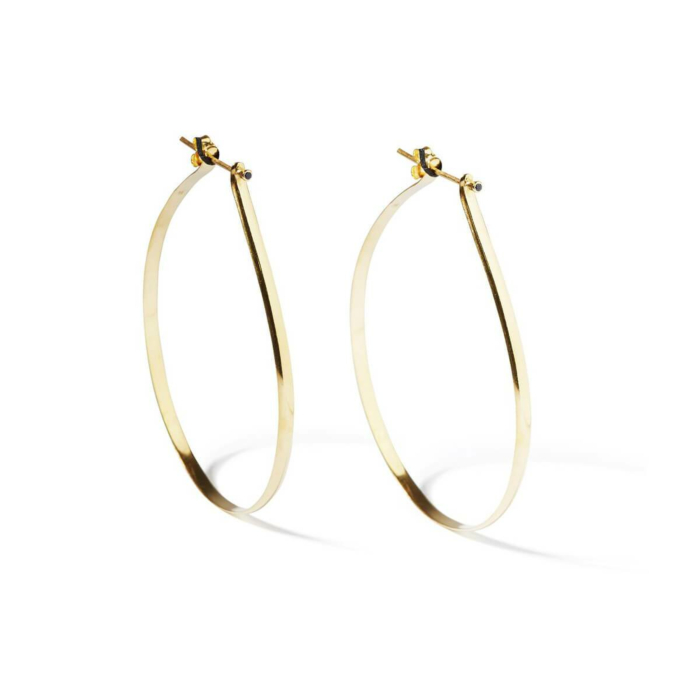 Yellow Gold Plated Spiked Hoops