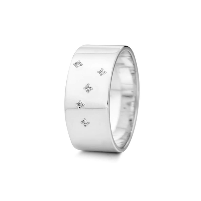Sterling Silver Cancer Zodiac Constellation Ring