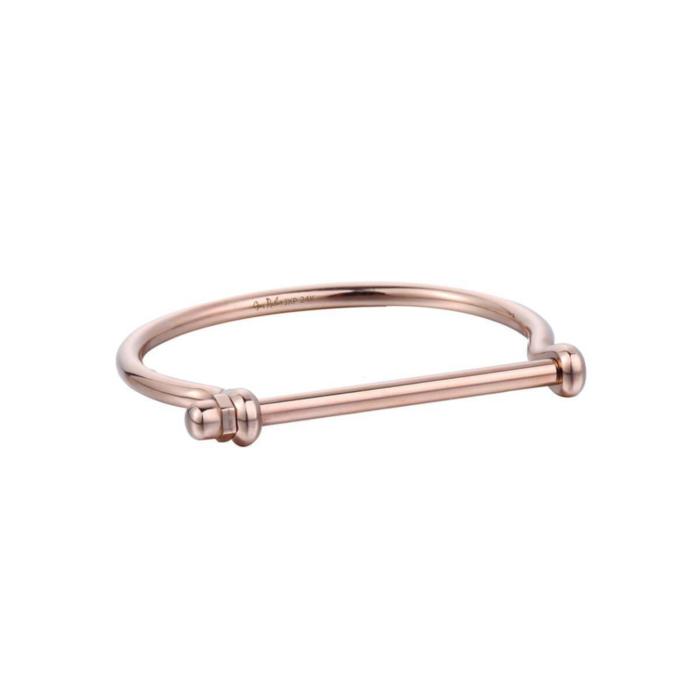 Rose Gold Screw Cuff Bracelet