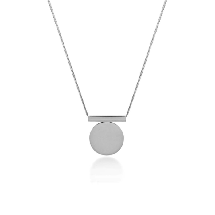 Sterling Silver Full Circle Necklace