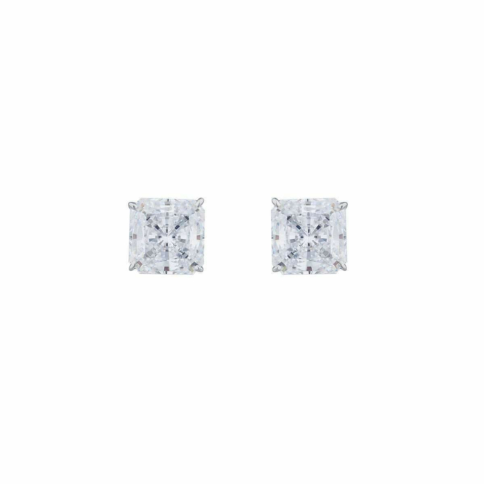 14kt White Gold 5ct Princess Stud Earrings