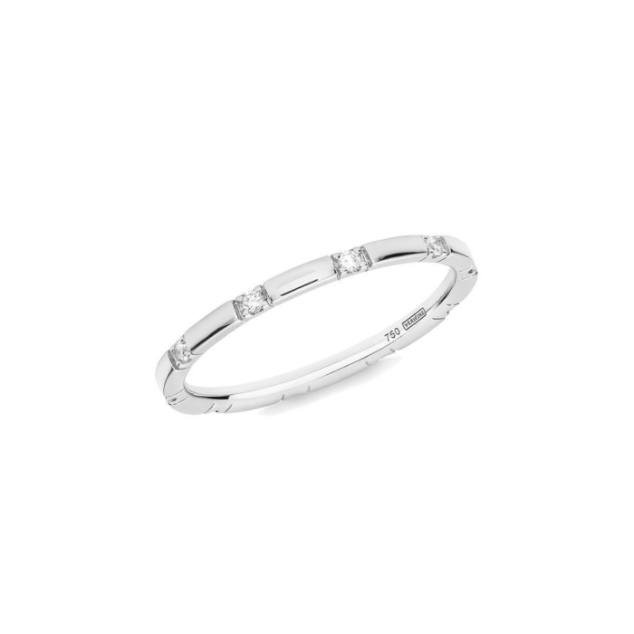 10 Stone XX Diamond Ring In 18kt White Gold