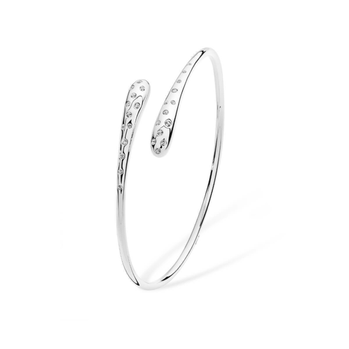 Cross Open Dipped Bangle