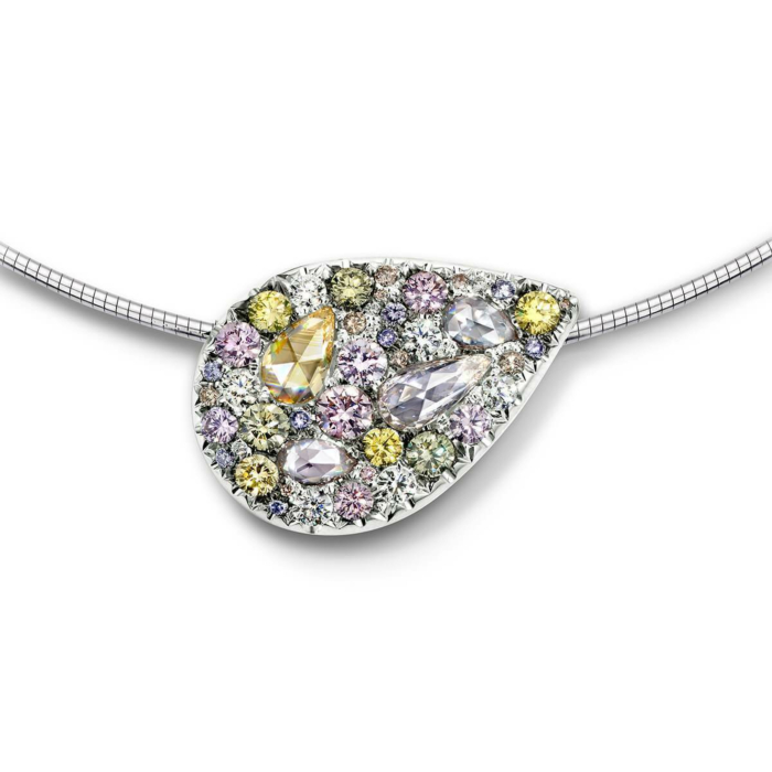 Starstruck Pendant - Mixed Colour Diamonds
