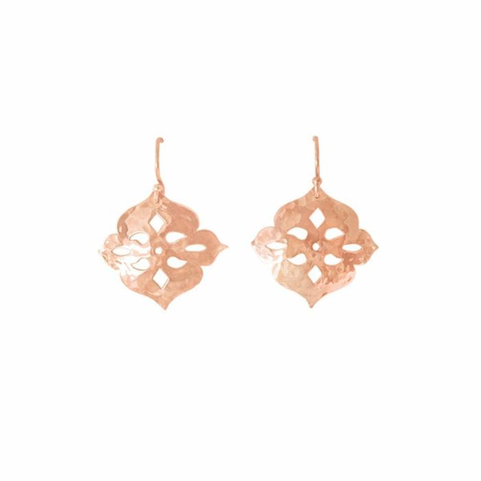 Rose Gold Thai Princess Drop Earrings