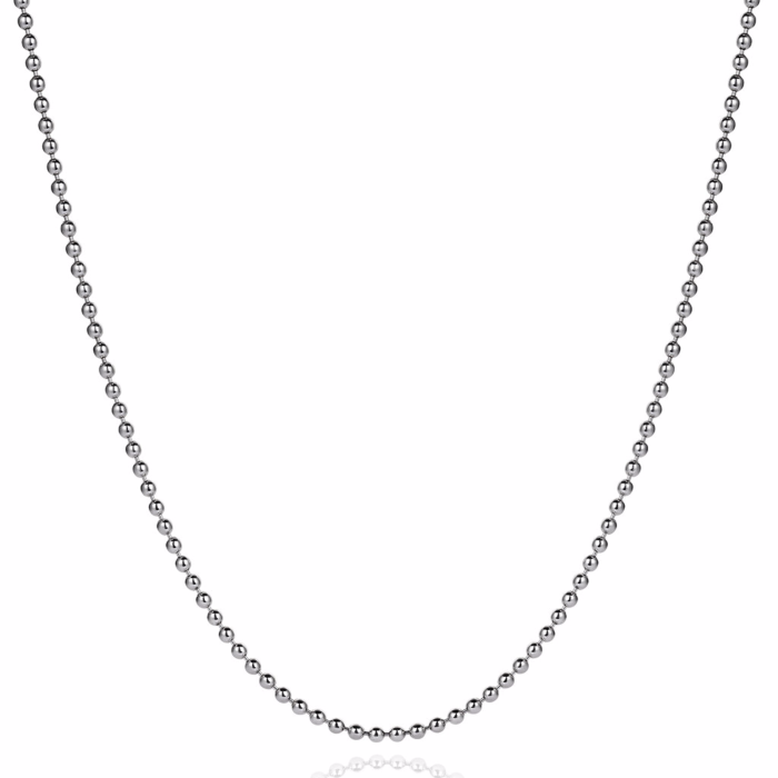 Necklace Chain White Gold Plated