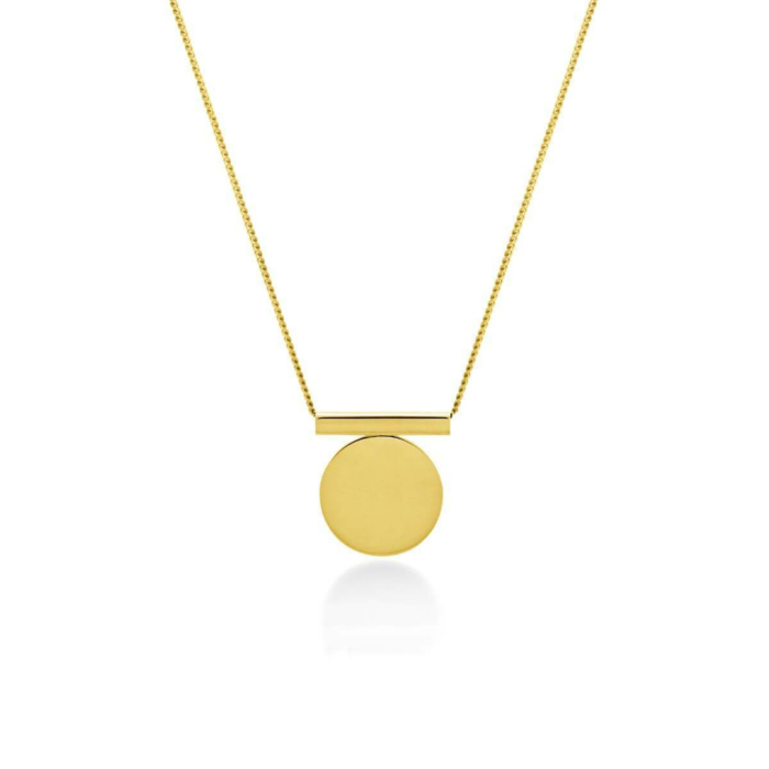 Yellow Gold Plated Full Circle Necklace