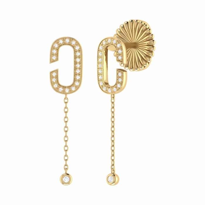 14kt Yellow Gold Plated Celia C Drop Earrings