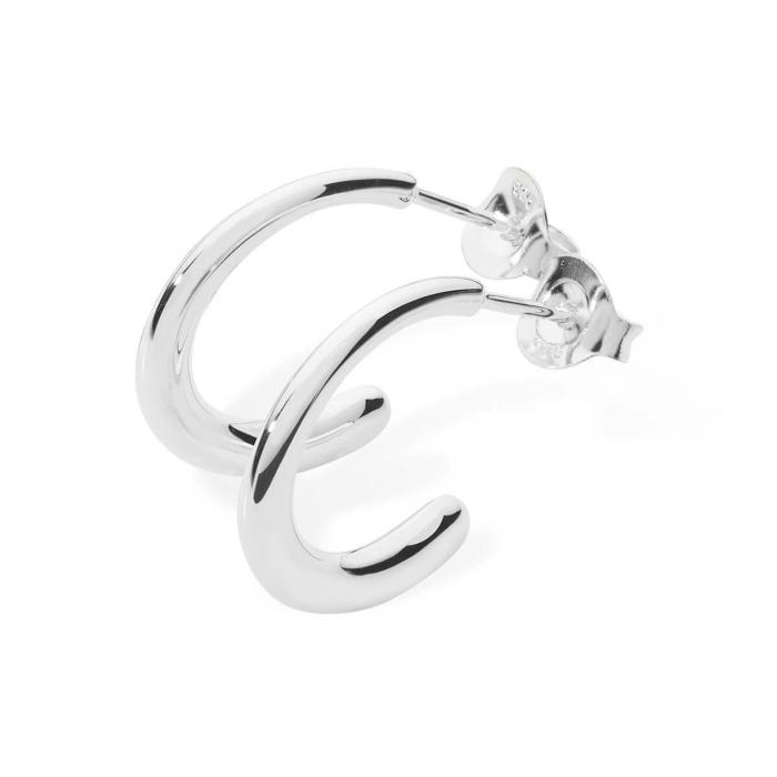 Mini Drop Earrings Silver