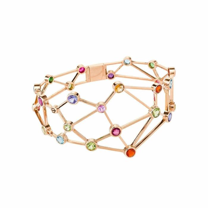 Rose Gold & Mutli-Gemstone Constelacin I Bracelet | Jaime Moreno