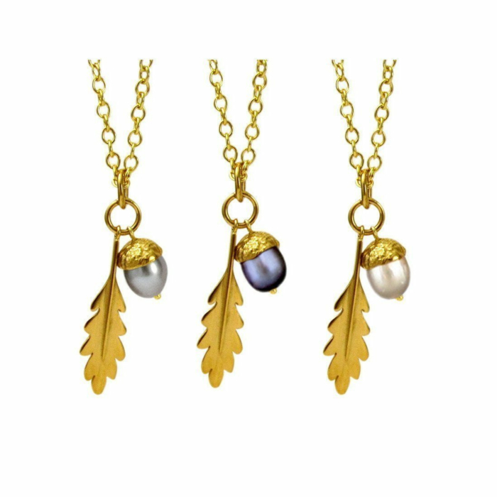 18kt Gold Vermeil Large Acorn Pendant
