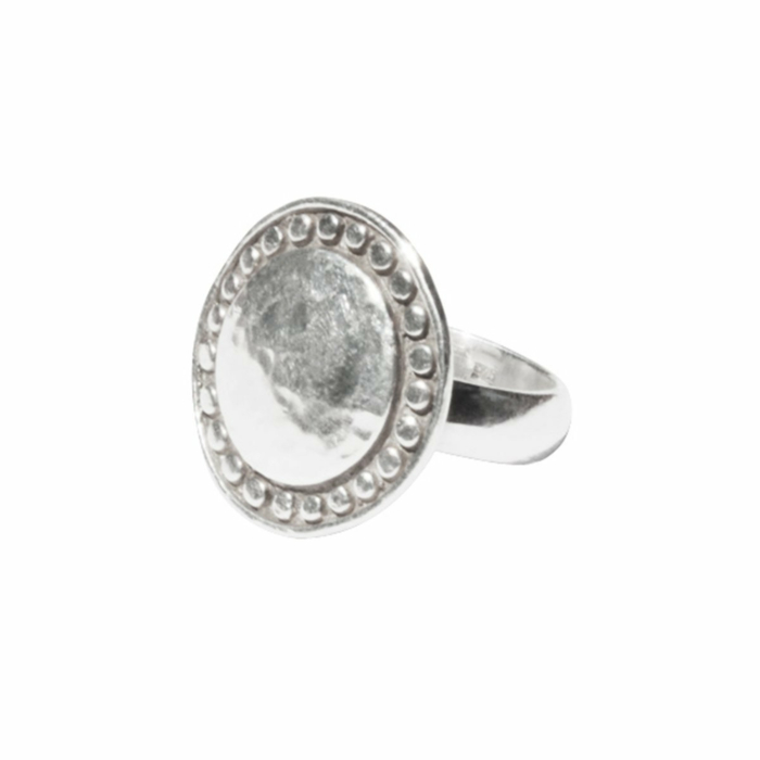 Sterling Silver Marrakech Disc Ring