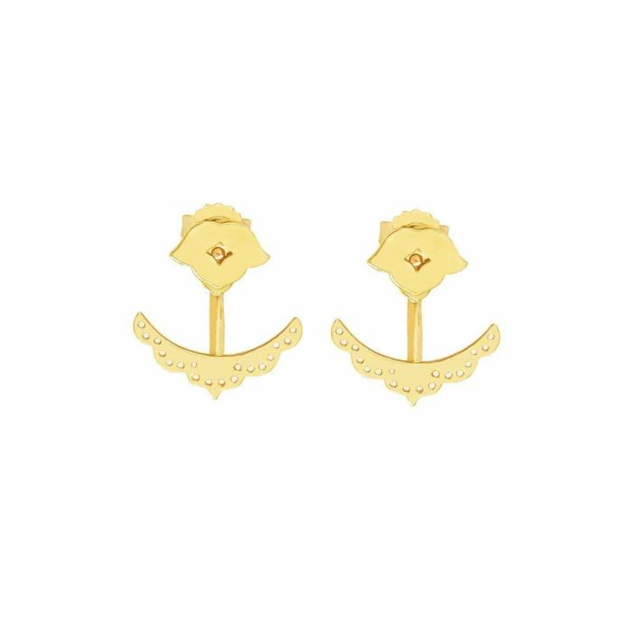 Gold Beleza Cuff Earrings