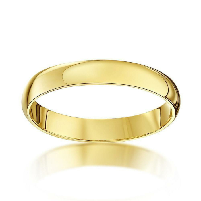 18kt Yellow Gold D-Shape Extra Heavy Wedding Ring