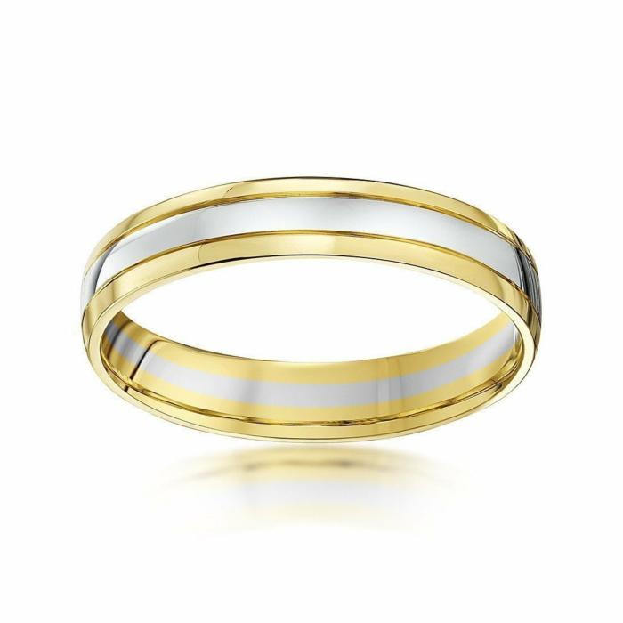 9kt White & Yellow Gold Wedding Ring