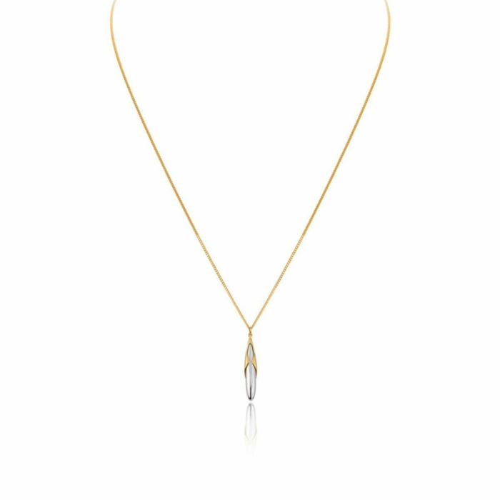 Hun Pitou Duel Length Yellow Gold and Silver Pendant