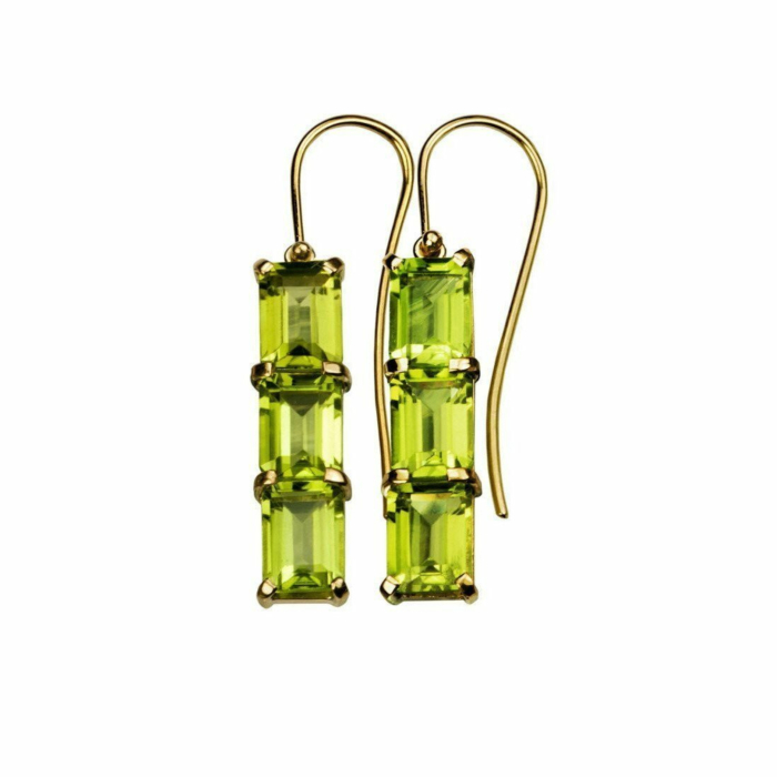 18kt Gold Peridot Earrings